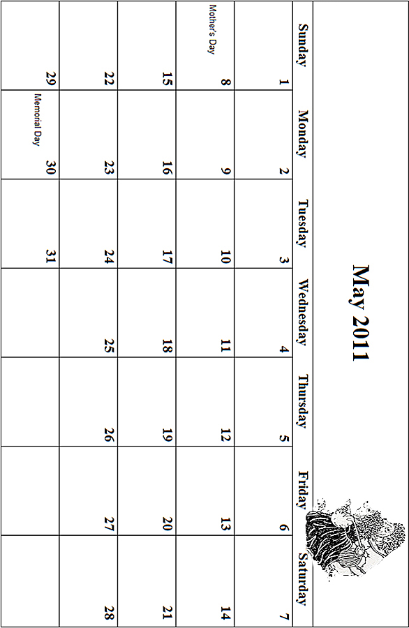 May 2011 Coloring Grid