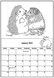 2014 Coloring Calendar Main Page