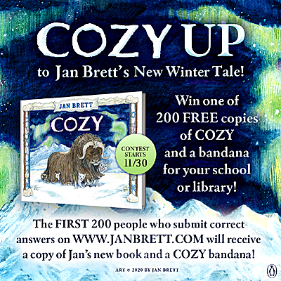 Author Jan Brett's Free Coloring, Video and Activity Pages