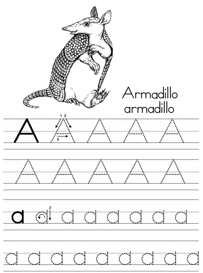 Coloring Alphabet Tracers A