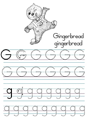 Coloring Alphabet Tracers G