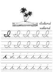 Worksheets Cursiv I jan brett coloring cursive alphabet tracers i