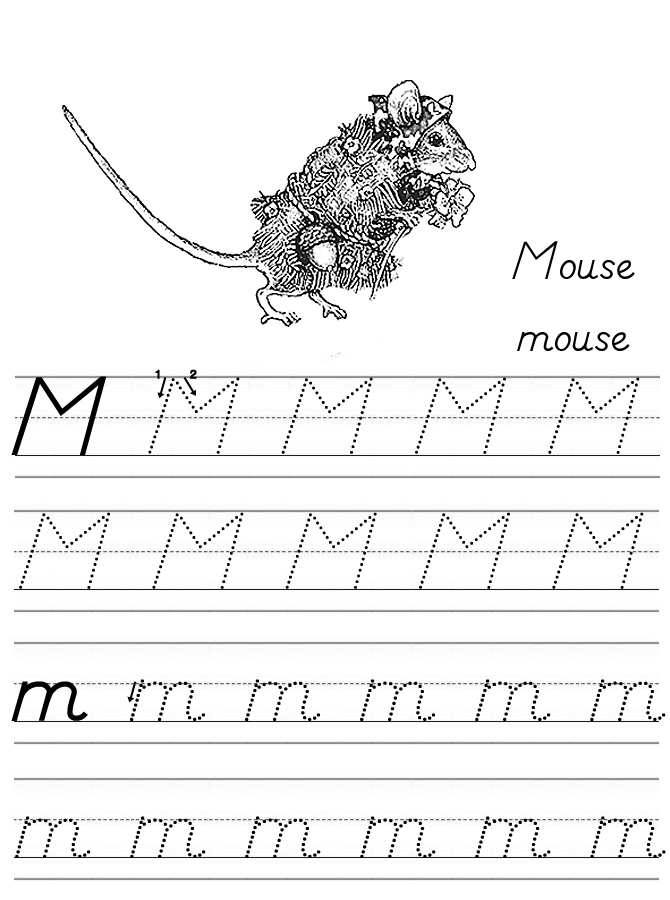 Alphabet Coloring Tracers Modern M