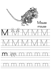Coloring Alphabet Tracers M