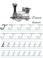 Jan Brett Coloring Cursive Alphabet Tracers