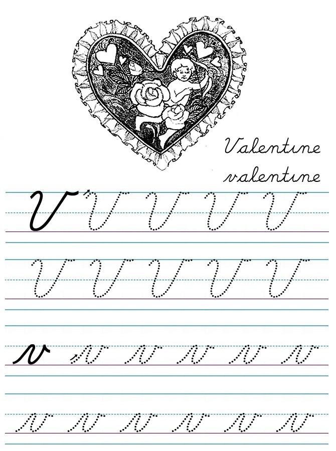 Alphabet Coloring Tracers Cursive V