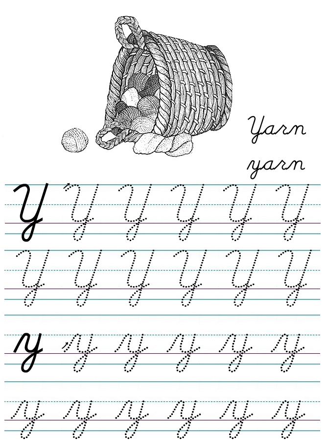 alphabets in cursive writing