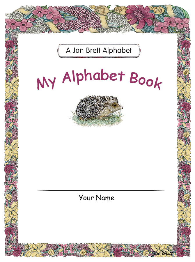 Jan Brett's Alphabet Book Cover 1