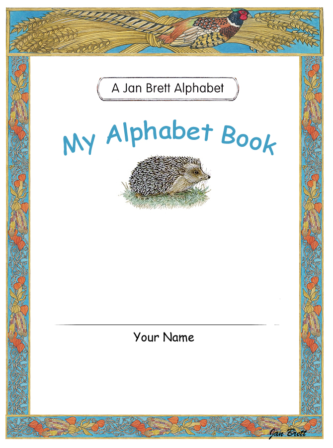 Jan Brett's Alphabet Book Cover 2