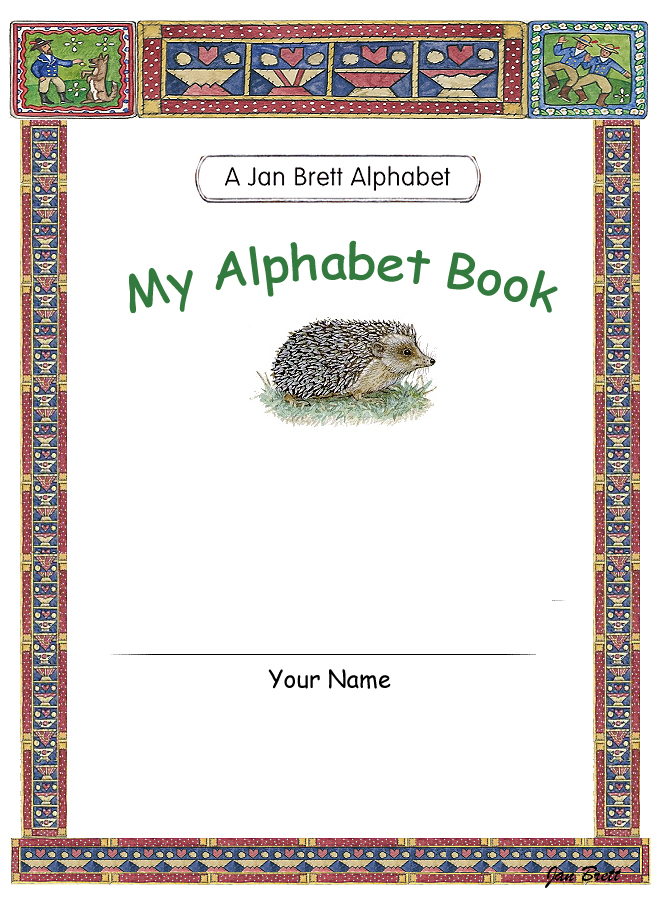 Jan Brett's Alphabet Book Cover 3