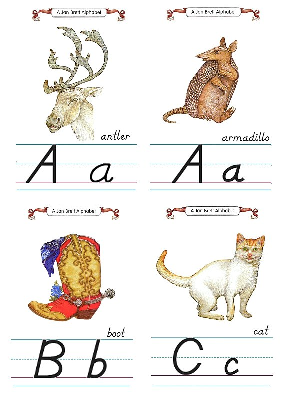 Flash Card Modern Alphabet A to C