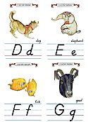 Flash Card Modern Alphabet D to G