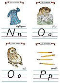 Flash Card Modern Alphabet N to P