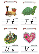 Flash Card Modern Alphabet T to V