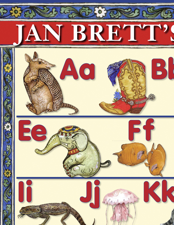 Jan Brett Alphabet Poster 1