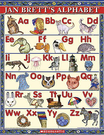 Jan Brett Alphabet Poster