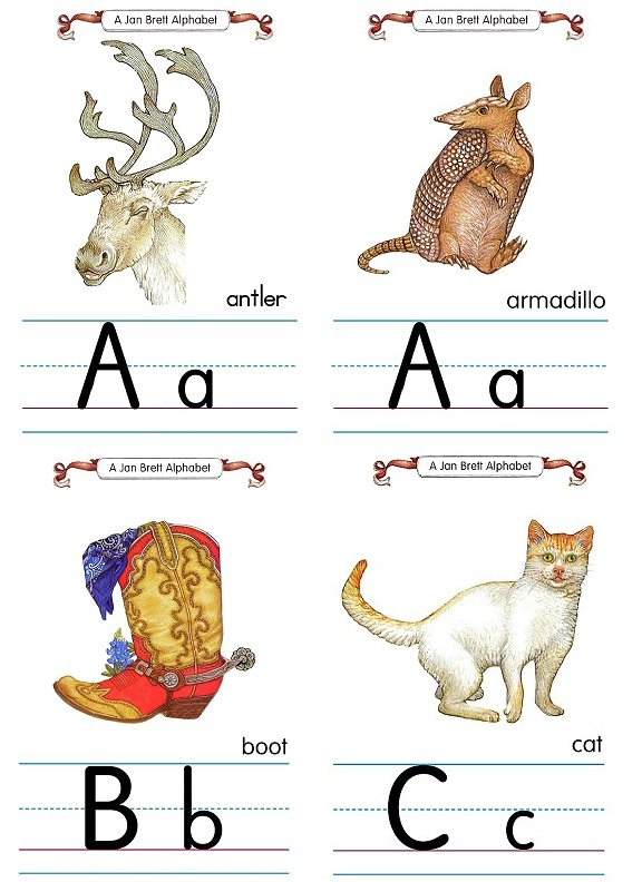 Flash Card Traditional Alphabet A to C