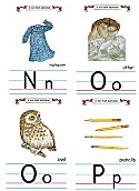 Flash Card Traditional Alphabet N to P