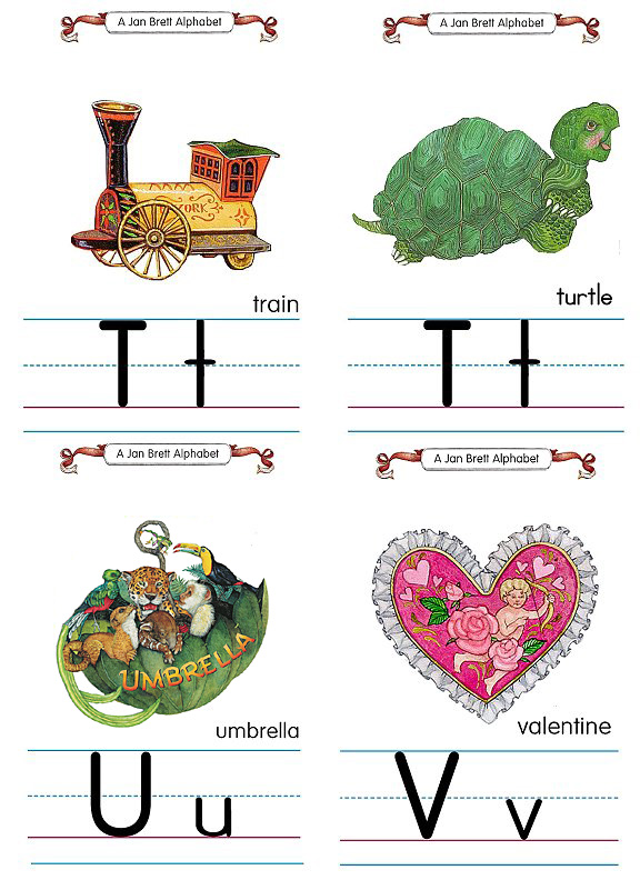 Flash Card Traditional Alphabet T to V