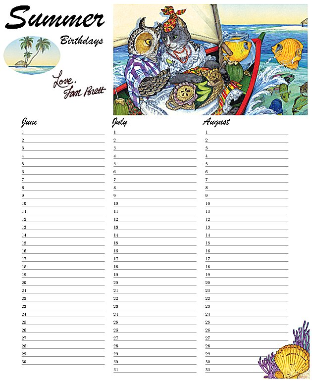 Calendar Summer