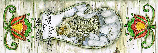 The Hedgehog from The Mitten