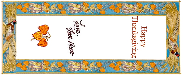 Thanksgiving Bookmarks Printed 1