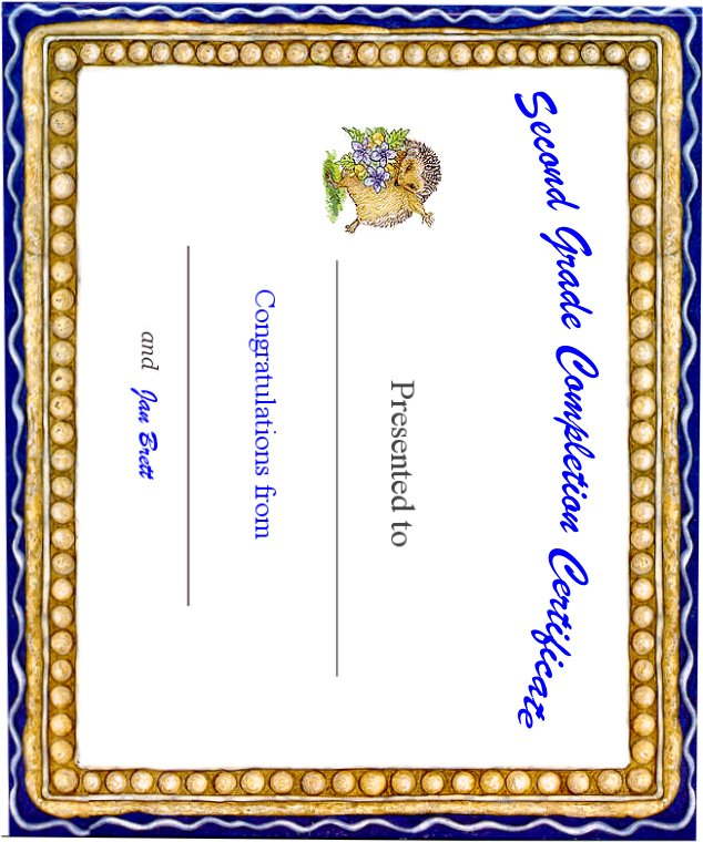 Second Grade Completion Certificate
