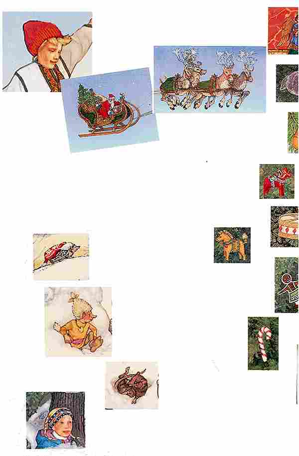 Christmas Treasury Advent Calendar Background Left