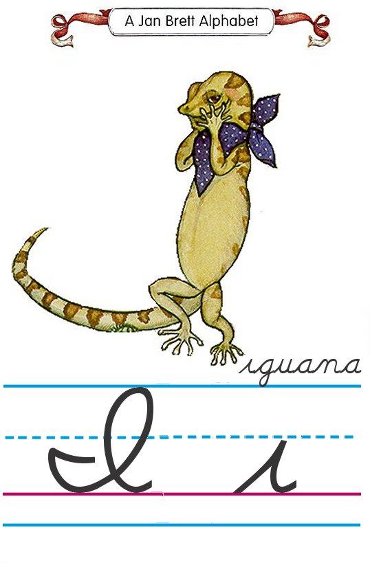 Cursive I Cursive alphabet i iguana