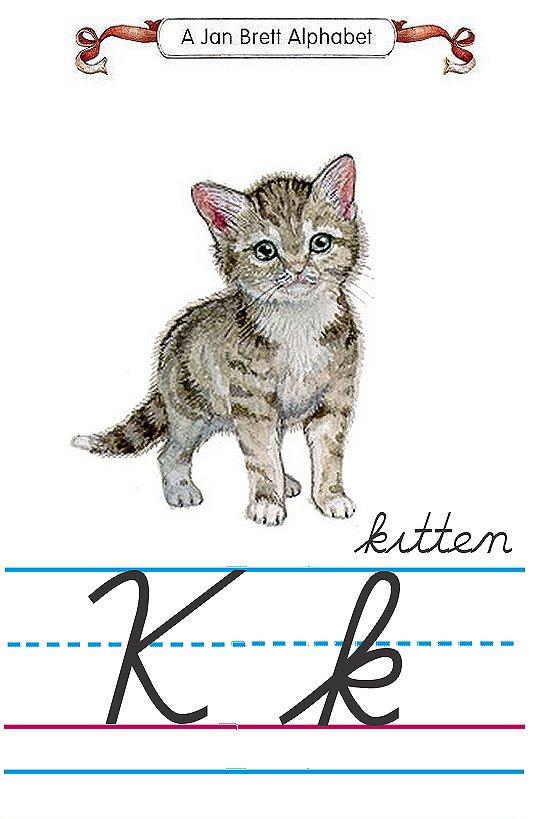 alphabet K kitten