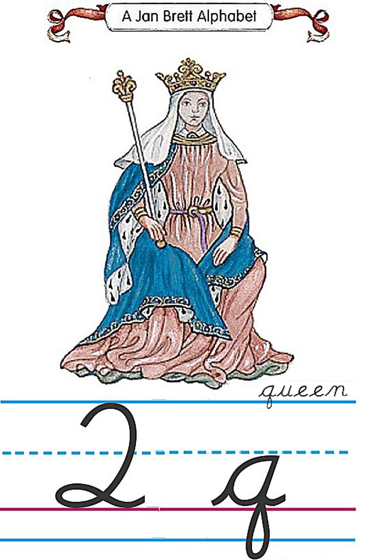 Worksheet Cursuve Q alphabet q queen cursive queen