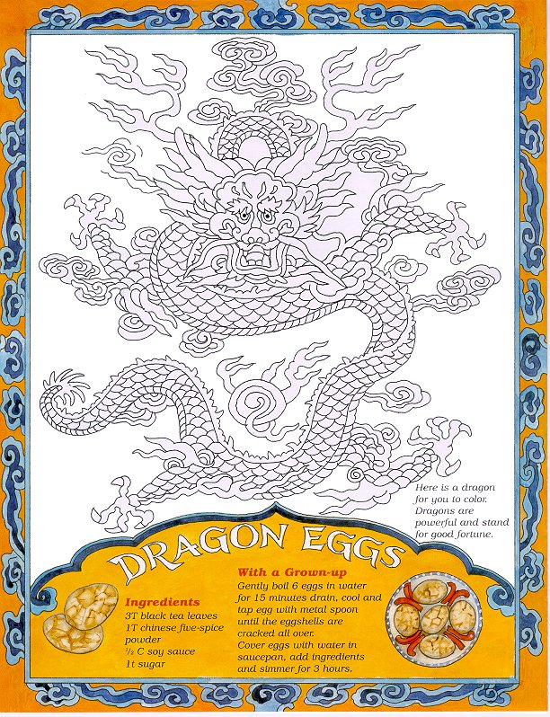Dragon Eggs Recipe and Coloring Page