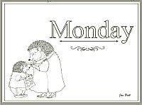 Days of the Week Coloring Monday