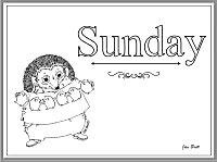 Days of the Week Coloring Sunday
