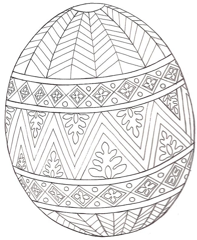 Pysanky Patterns Colouring Pages page 2
