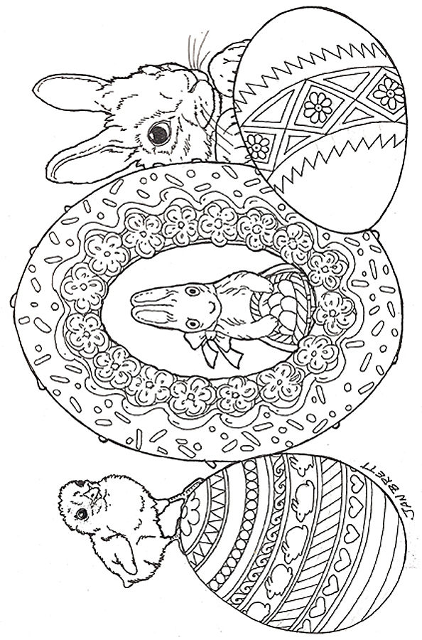 Coloring Pages For Adults Easter Eggs : Easter eggs coloring page