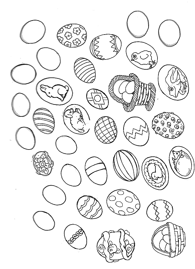 Easter Egg Mural Eggs