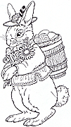 jan brett easter coloring pages - rudi bunny small size