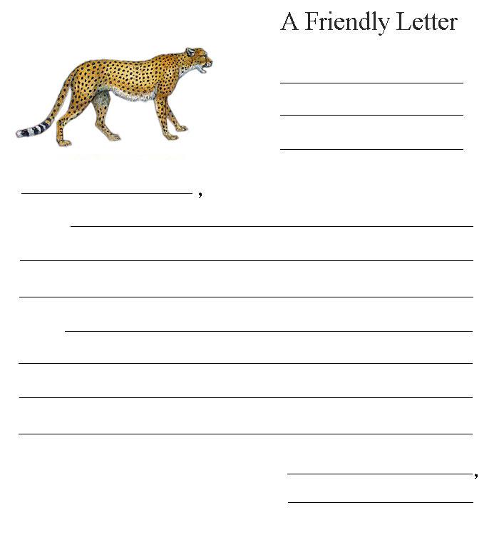 Friendly Letter Cheetah
