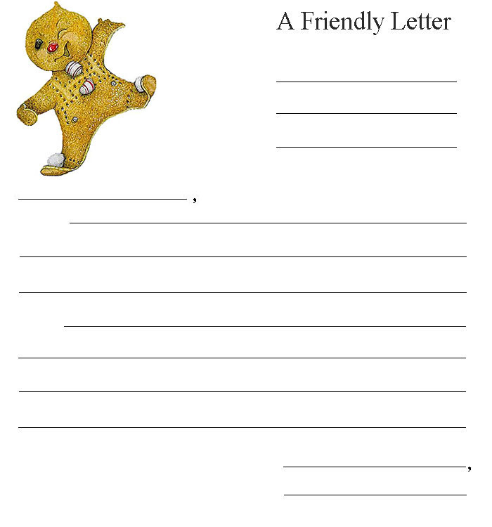 friendly letter gingerbread baby