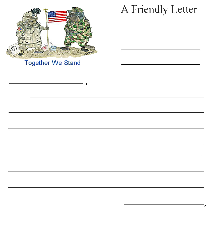 A Letter To Santa Template: Friendly Letter Together We Stand