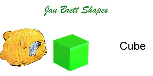 Jan Brett 3 Dimensional Geometric Shapes Cube Answer