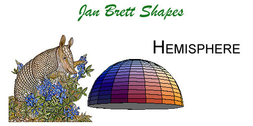 Jan Brett 3 Dimensional Geometric Shapes Hemisphere Answer