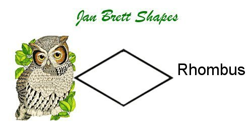 Jan Brett Geometric Shapes Flash Cards Diamond Answer