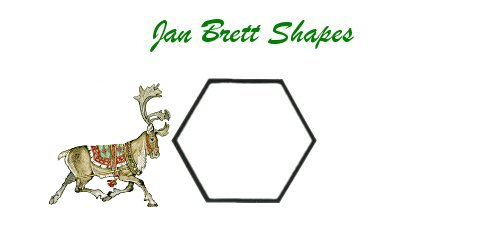 Jan Brett Geometric Shapes Flash Cards Hexagon