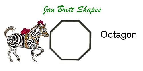 Jan Brett Geometric Shapes Flash Cards Octagon Answer