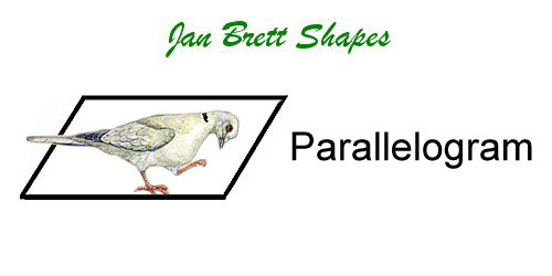 Jan Brett Geometric Shapes Flash Cards Parallelogram Answer