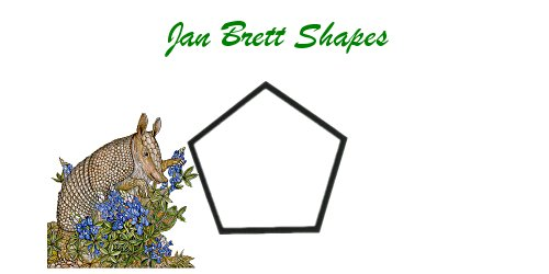 Jan Brett Geometric Shapes Flash Cards Pentagon