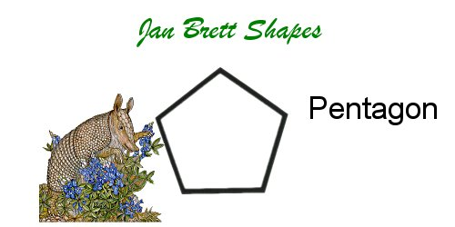 Jan Brett Geometric Shapes Flash Cards Pentagon Answer