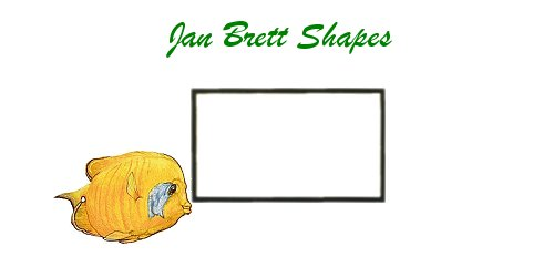 Jan Brett Geometric Shapes Flash Cards Rectangle